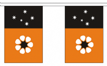 AUSTRALIA NORTHERN TERRITORY BUNTING - 3 METRES 10 FLAGS